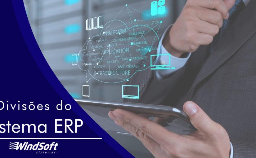 Divisões do sistema ERP